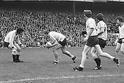 All Ireland Senior Football Championship Final, Dublin v Kerry, 26.09.1976, 09.26.1976, 26th September 1976, 26091976AISFCF, Dublin 3-08 Kerry 0-10, ..Dublin Midfield player Brian Mullins, gathering the ball,