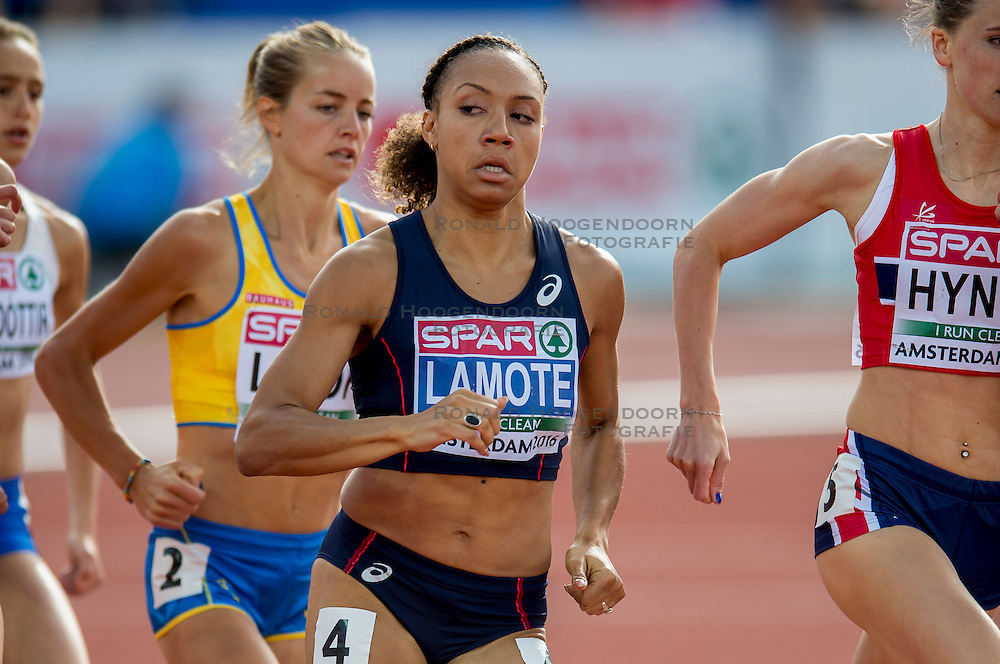 06-07-2016 NED: European Athletics Championships, Amsterdam<br /> Renelle Lamote FRA 800m