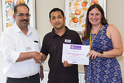 Care UK's Franklin House care home in West Drayton, London, has been awarded a Two Years Pressure Prevention Award from North West London NHS Foundation, in collaboration with Hillingdon TVN Team and Hillingdon CCG. Norberto Natividad receives his nomination certificate for RCS Star Awards for Maintenance Man of the Year. London, July 11 2019.