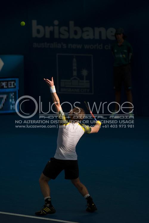 Andy MURRAY (GBR). Brisbane International Tennis Championship. Queensland Tennis Center, Tennyson, Brisbane, Queensland, Australia. 04/01/2013. Photo By Lucas Wroe