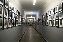 Pictures of victims are on display at Auschwitz-Birkenau Memorial and Museum in Auschwitz, Poland on September 3, 2017. Auschwitz concentration camp was a network of German Nazi concentration camps and extermination camps built and operated by the Third Reich in Polish areas annexed by Nazi Germany during WWII. It consisted of Auschwitz I (the original camp), Auschwitz II–Birkenau (a combination concentration/extermination camp), Auschwitz II–Monowitz (a labor camp to staff an IG Farben factory), and 45 satellite camps. In September 1941, Auschwitz II–Birkenau went on to become a major site of the Nazi Final Solution to the Jewish Question. From early 1942 until late 1944, transport trains delivered Jews to the camp's gas chambers from all over German-occupied Europe, where they were killed en masse with the pesticide Zyklon B. An estimated 1.3 million people were sent to the camp, of whom at least 1.1 million died. Around 90 percent of those killed were Jewish; approximately 1 in 6 Jews killed in the Holocaust died at the camp. Others deported to Auschwitz included 150,000 Poles, 23,000 Romani and Sinti, 15,000 Soviet prisoners of war, 400 Jehovah's Witnesses, and tens of thousands of others of diverse nationalities, including an unknown number of homosexuals. Many of those not killed in the gas chambers died of starvation, forced labor, infectious diseases, individual executions, and medical experiments. In 1947, Poland founded a museum on the site of Auschwitz I and II, and in 1979, it was named a UNESCO World Heritage Site. Photo by Somer/ABACAPRESS.COM