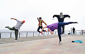 Group of breakdancers from Valparaiso, Chile