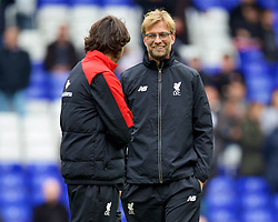LONDON, ENGLAND - Saturday, October 17, 2015: Liverpool's manager Jürgen Klopp and assistant manager Zeljko Buvac before the Premier League match against Tottenham Hotspur at White Hart Lane. (Pic by David Rawcliffe/Kloppaganda)