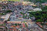 Nederland, Noord-Brabant, Oosterhout, 09-05-2013; centrum met winkelcentrum Arendshof en aan de Markt de Sint-Jansbasiliek.<br /> Forensenplaats<br /> Center of Breda, shopping mall Arendshof  and basilica.<br /> luchtfoto (toeslag op standard tarieven);<br /> aerial photo (additional fee required);<br /> copyright foto/photo Siebe Swart.