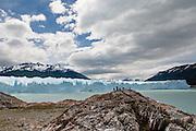 Onlookers at Perito Moreno Glacier, Los Glacieres NP, Patagonia, Argentina