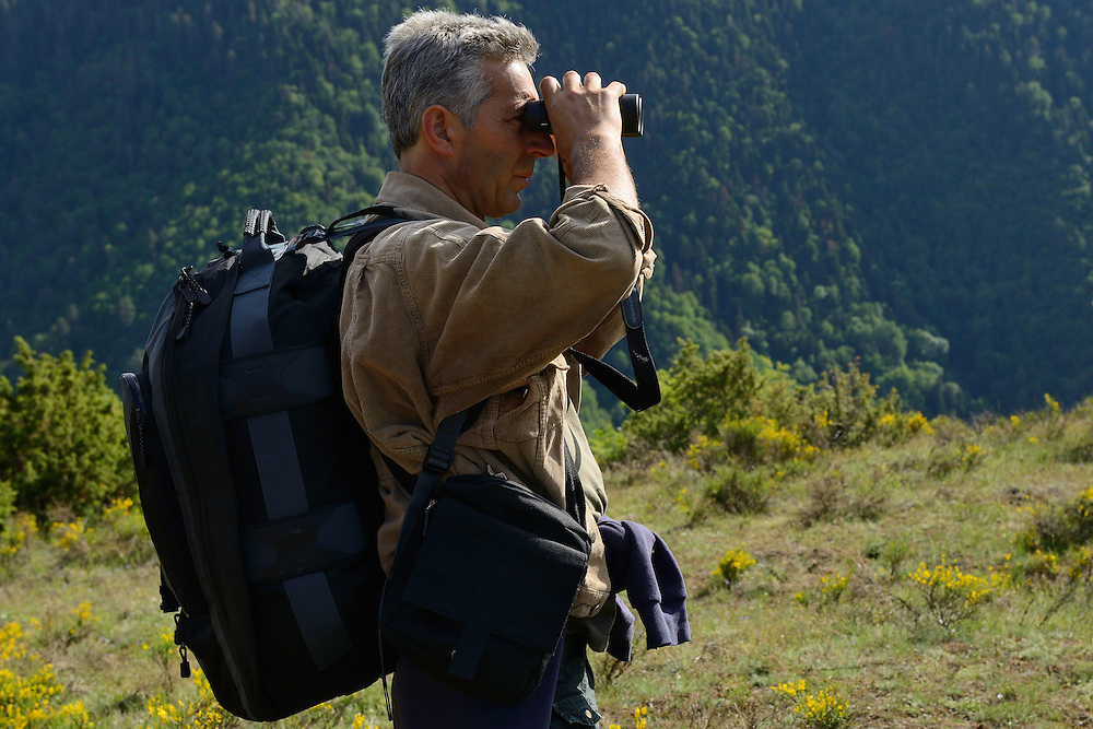 Vlado Peikov, hunting area manager, Deven area, Western Rhodope mountains, Bulgaria