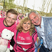 "REPRO FREE<br /> Steve Crosbie from the leinster Academy with his mother and event Ambassador Sharon Crosbie and Brent Pope pictured at the fifth Kinsale Pink Ribbon Walk for Action Breast Cancer, a programme of the Irish Cancer Society.<br /> Picture John Allen<br /> PRESS RELEASE<br /> <br /> OVER 600 JOIN KINSALE PINK RIBBON WALK 2016<br /> <br /> Over 600 walkers and runnners participated in the fifth Kinsale Pink Ribbon Walk today, Sunday 17th April at 12noon to benefit Action Breast Cancer, a programme of the Irish Cancer Society.  <br /> <br /> The sun shone over Kinsale as the mast was adorned with pink flags and pink ribbons fluttered in a light breeze along the pier road and throughout the town. Kinsale shop windows and streets have all gone pink with balloons, bunting and flags, to lend their support as pink partners.  <br /> <br /> Every walker who registers receives a special Pink Ribbon Walk t-shirt and medal and writes a pink ribbon to dedicate their walk or run to someone. The ribbons are hanging by the start and finish line which adds to the spirit of the occasion. <br /> <br /> DJ, Ed O'Leary, helped get the walk off to a great start with a warm up and 'Amazing Grace' with Sharon Crosbie, Kinsale Pink Ribbon Ambassador who was again joined by a group of friends from Dublin for the weekend, all participating in the walk. <br /> <br /> Refreshments were generously provided in Actons Hotel by The Kinsale Good Food Circle, Cully & Sully and Tipperary Water. Additional sponsors include Eurocamp, Lilly and East Cork Oil. The closing ceremony was well attended and very moving as most people have been affected in some way by cancer.<br /> <br /> According to Fionnuala McCarthy, Chairperson of the Kinsale Pink Ribbon Walk: ""We wish to thank all participants, sponsors, donor and volunteers who give their time and money so generously each year. The purpose of the Pink Ribbon Walk is to both raise awareness and funds for Action Breast Cancer and, importantly, to show solidarity and offer support to family and friends affected by cancer. It is a fantast"