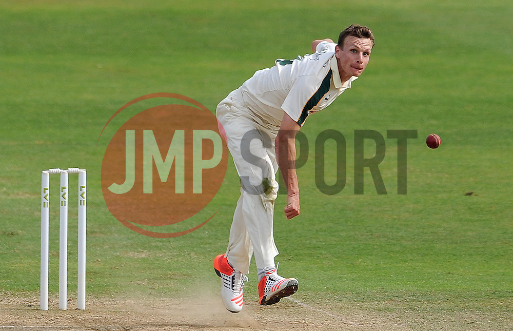 Nottinghamshire's Will Gidman - Photo mandatory by-line: Harry Trump/JMP - Mobile: 07966 386802 - 16/06/15 - SPORT - CRICKET - LVCC County Championship - Division One - Day Three - Somerset v Nottinghamshire - The County Ground, Taunton, England.
