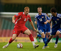 CARDIFF, WALES - Saturday, October 11, 2008: Wales' James Collins in action against Liechtenstein during the 2010 FIFA World Cup South Africa Qualifying Group 4 match at the Millennium Stadium. (Photo by David Rawcliffe/Propaganda)