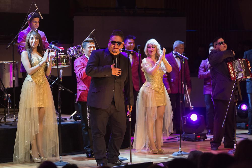 Mexico, D.F. 29/06/2015. Centro Cultural Roberto Cantoral. Grabacion del material musical de La Sonora Dinamita. La Sonora Dinamita. Big Javy.