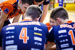 Zoran Kedacic head coach of ACH Volley during volleyball match between Calcit Volley and ACH Volley in Final of 1. DOL Slovenian Man national Championship 2016/17 on 24th of April, 2017 in Kamnik, Slovenija.  Photo by Grega Valancic / Sportida