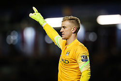 Manchester City's Joe Hart gestures to his defence - Photo mandatory by-line: Matt McNulty/JMP - Mobile: 07966 386802 - 14/03/2015 - SPORT - Football - Burnley - Turf Moor - Burnley v Manchester City - Barclays Premier League