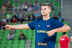 Blaz Mesicek of Slovenia during basketball match between Slovenia and Montenegro in Round #6 of FIBA Basketball World Cup 2019 European Qualifiers, on July 1, 2018 in Arena Stozice, Ljubljana, Slovenia. Photo by Urban Urbanc / Sportida