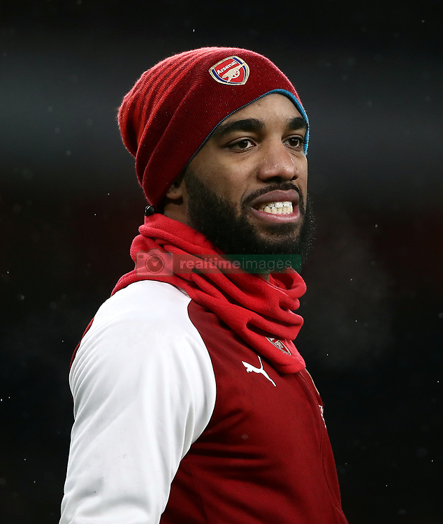 Arsenal's Alexandre Lacazette before the game