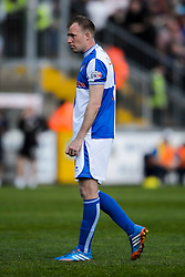 David Clarkson (SCO) of Bristol Rovers looks dejected - Photo mandatory by-line: Rogan Thomson/JMP - 07966 386802 - 03/05/2014 - SPORT - FOOTBALL - Memorial Stadium, Bristol - Bristol Rovers v Mansfield Town - Sky Bet League Two. (Note: Mansfield are wearing a Rovers spare kit having forgotten their own).
