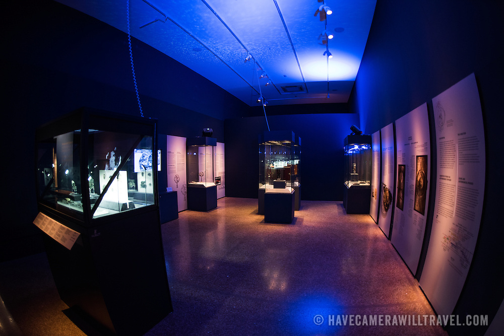 One of the highlights of the National Archaeological Museum in Athens, Greece, the Antikythera Mechanism now has its own dedicated exhibit gallery in which all of its fragments are on display. Believed to date to somewhere around 100 BC to 205 BC, it was found amongst a large cache of statues, coins, and other artefacts on a sunken shipwreck discovered in 1900 by sponge divers off the coast of the Greek island of Antikythera. It was badly damaged after such a long time in the salt water, but extensive research in recent decades has resulted in a consensus that it is a kind of astronomical analog computer as well as some modern reconstructions.