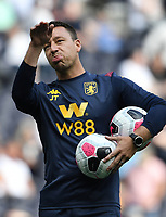 Football - 2019 / 2020 Premier League - Tottenham Hotspur vs. Aston Villa<br /> <br /> Aston Villa Assistant Coach John Terry during the pre-match warm-up, at The Tottenham Hotspur Stadium.<br /> <br /> COLORSPORT/ASHLEY WESTERN