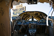 Crashed plane at Angel's Landing brothel in Rural Nevada south of Tonopah.