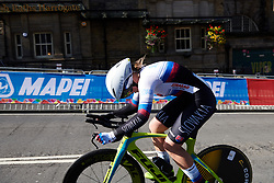 Nora Jencusova (SVK) at UCI Road World Championships 2019 Junior Women's TT a 13.7 km individual time trial in Harrogate, United Kingdom on September 23, 2019. Photo by Sean Robinson/velofocus.com