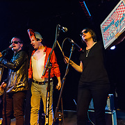 WASHINGTON, DC - March 21st, 2014 - Macaulay Culkin,Toby Goodshank (dressed as David Bowie) and Deenah Vollmer of the Pizza Underground perform at the Black Cat in Washington, D.C. (Photo by Kyle Gustafson / For The Washington Post)