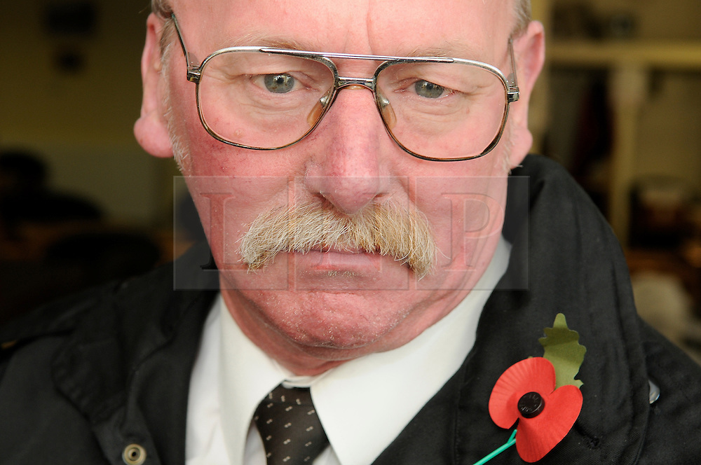 © Licensed to London News Pictures. 13/11/2012.George Flett age 62 .A 22 year old soldier who is to go to Afghanistan was told to cover up his uniform on Remembrance Sunday by staff at a  restaurant in  Sidcup, Kent..George Flett, an ex-serviceman who served in the army for 10 years, had been to a memorial service at St John's Church, in Church Road, Sidcup, with the 22-year-old soldier.The pair then headed to the Horse and Groom Harvester  in Main Road, Sidcup where after ordering drinks at the bar a manager come up to the pair and asked  that the soldier cover up his uniform as its against the law..Photo credit : Grant Falvey/LNP