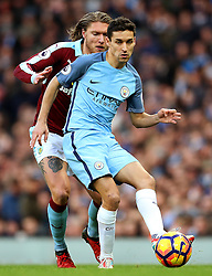 Jesus Navas of Manchester City and Jeff Hendrick of Burnley - Mandatory by-line: Matt McNulty/JMP - 02/01/2017 - FOOTBALL - Etihad Stadium - Manchester, England - Manchester City v Burnley - Premier League