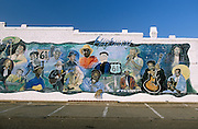 Mural of blues legends, Leland, MS