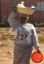 Visit of poor black people on June 18, 2010 in Soweto, part of Johannesburg, South Africa. (Photo by Vid Ponikvar / Sportida)