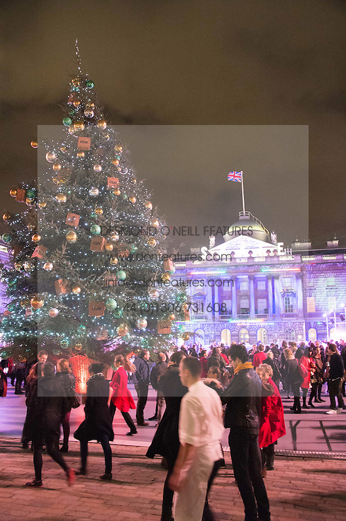 Atmosphere at the launch of Skate at Somerset House in association with Fortnum & Mason held at Somerset House, The Strand, London on 17th November 2015.
