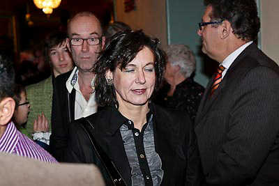 NLD/Amsterdam/20081218 - Premiere Wereldkerstcircus 2008, Jolanda van den Burg, partner van Bart Chabot