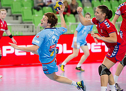 Katja Cerenjak of Slovenia during handball match between Women National Teams of Slovenia and Czech Republic of 4th Round of EURO 2012 Qualifications, on March 25, 2012, in Arena Stozice, Ljubljana, Slovenia. (Photo by Vid Ponikvar / Sportida.com)