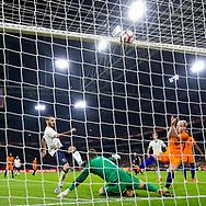 Leonardo Bonucci of Italy (3L) scores 1-2, Jeroen Zoet of Netherlands (M), Davy Klaassen of Netherlands (R) , voetbal, 28-3-2017, vriendschappelijke interland Nederland - Italie 1-2, Amsterdam Arena
