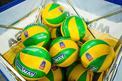 Balls during volleyball match between ACH Volley (SLO) and Lotos Trefl Gdansk (POL) in 3rd Leg of Pool F of 2016 CEV DenizBank Volleyball Champions League, on December 3, 2015 in Arena Stozice, Ljubljana, Slovenia. Photo by Vid Ponikvar / Sportida