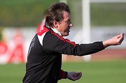 Coach of Interblock Igor Benedejcic at 28th Round of Slovenian First League football match between NK Interblock and ND Hit Gorica ZAK Stadium, on April 11, 2009, in Ljubljana, Slovenia. (Photo by Vid Ponikvar / Sportida)