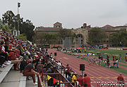 General overall view of Cromwell Field during an NCAA college dual meet between the UCLA Bruins and the Southern California Trojans  in Los Angeles, Sunday, April 28, 2019.