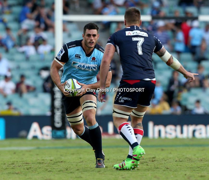 David Dennis. Waratahs v Rebels, Super Rugby Round 6. Played at Allianz Stadium, Sydney Australia on Sunday 3 April 2016. Copyright Photo: Clay Cross / photosport.nz