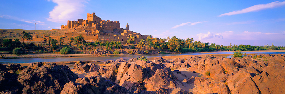MOROCCO, SAHARA DESERT the Kasbah of Tiffoultoute; a fortified citadel near Ouarzazate between the High Atlas Mountains and the Sahara