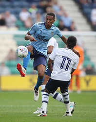 Isaac Hayden of Newcastle United (L) ion action - Mandatory by-line: Jack Phillips/JMP - 22/07/2017 - FOOTBALL - Deepdale - Preston, England - Preston North End v Newcastle United - Pre-Season Club Friendly
