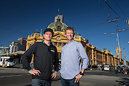 Luke McKenzie (AUS) and Luke Bell (AUS), March 19, 2014 - Ironman Triathlon : Tougher Than An IRONMAN, Federation Square, Melbourne, Victoria, Australia. Credit: Lucas Wroe