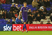 Portsmouth defender James Bolton in action during the EFL Sky Bet League 1 match between Coventry City and Portsmouth at the Trillion Trophy Stadium, Birmingham, England on 11 February 2020.