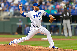 March 29, 2018 - Kansas City, MO, U.S. - KANSAS Kansas City, MO - MARCH 29: Kansas City Royals relief pitcher Tim Hill (51) pitches during the major league opening day game against the Chicago White Sox on March 29, 2018 at Kauffman Stadium in Kansas City, Missouri. (Photo by William Purnell/Icon Sportswire) (Credit Image: © William Purnell/Icon SMI via ZUMA Press)