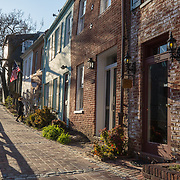 WASHINGTON, DC - MAR23: Pedestrjians walk along the towpath of the Chesapeake and Ohio (C&O) Canal in Georgetown, Washington, DC, March 23, 2017. Developers are hoping to upgrade the the one mile stretch of the C&O Canal that runs through Georgetown to create a destination experience like the Highline in New York City. (Photo by Evelyn Hockstein/For The Washington Post)