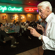 Former Governor Charlie Crist gives his stump speech at the  Broadway Palm fundraiser in Fort Myers.<br /> <br /> Profile of the former governor Charlie Crist on the campaign trail running for governor in Florida.