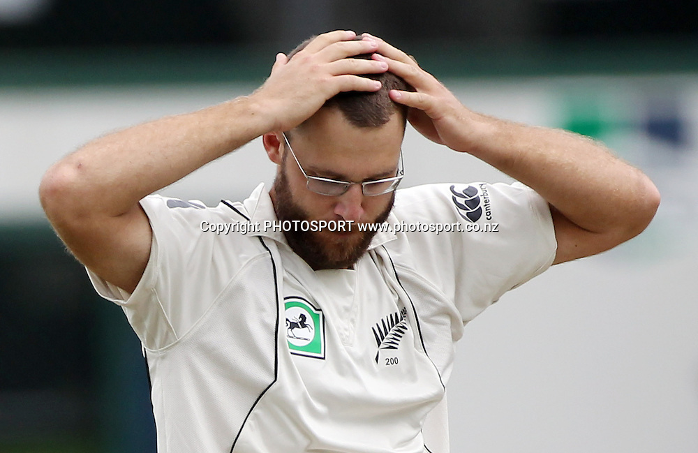 A frustrated Daniel Vettori.<br />
