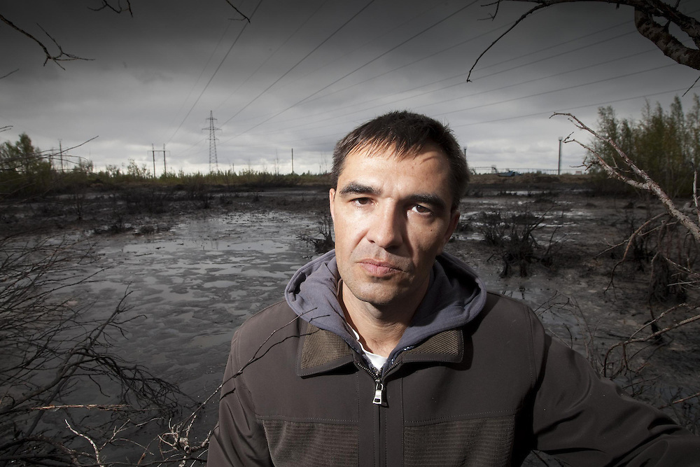 Ivan Ivenov, from the 'Save Pechora River' committee...Portraits of participants at a conference organised by Greenpeace, on the effect oil extraction has on the lives and cultures of indigenous peoples living in the area.