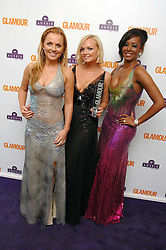Left to right, GERI HALLIWELL, EMMA BUNTON and MEL B at the 2008 Glamour Women of the Year Awards 2008 held in the Berkeley Square Gardens, London on 3rd June 2008.<br />