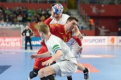Filip Mirkulovski of Macedonia during handball match between National teams of Macedonia and Czech Republic on Day 6 in Main Round of Men's EHF EURO 2018, on January 23, 2018 in Arena Varazdin, Varazdin, Croatia. Photo by Mario Horvat / Sportida