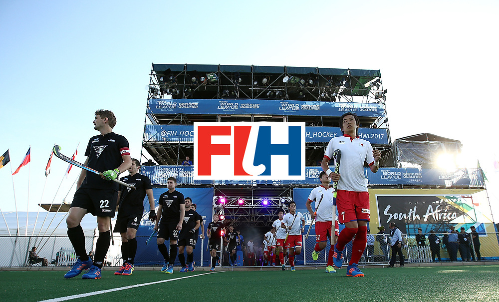 JOHANNESBURG, SOUTH AFRICA - JULY 11:  New Zealand and Japan players enter the field of play during day 2 of the FIH Hockey World League Semi Finals Pool A match between New Zealand and Japan at Wits University on July 11, 2017 in Johannesburg, South Africa.  (Photo by Jan Kruger/Getty Images for FIH)