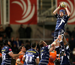 Magnus Lund of Sale Sharks wins a line out - Mandatory by-line: Matt McNulty/JMP - 10/02/2017 - RUGBY - AJ Bell Stadium - Sale, England - Sale Sharks v Newcastle Falcons - Aviva Premiership
