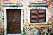 Shuttered window and door, Skradin, Dalmatia, Croatia